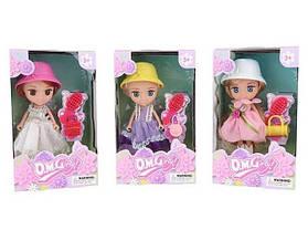 Кукла o.m.girly 65003 в шляпе с аксессуарами в коробке, Подарок девочке от 3 лет на день рожденье