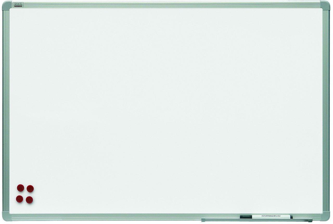 Магнитно-маркерная доска с керамической поверхность ALU23.  Все размеры. Белая доска для рисования маркером