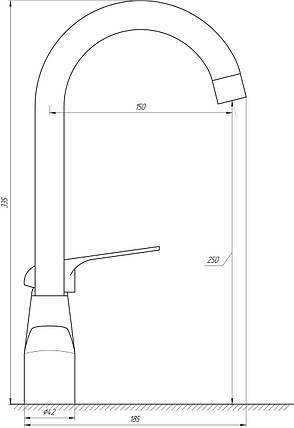 Смеситель для кухни DOMINO BLITZ DBR-103N, фото 2