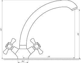 Змішувач для кухні DOMINO DKF-204-08-CRUIZE, фото 3