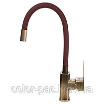 Смеситель для кухни DOMINO MALIBU DMM-203 LR-Bronze-Brown, фото 2