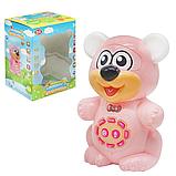 """Интерактивная поющая и говорящая игрушка с аудиосказками """"Мишка сказочник"""" Play Smart розовый с подсветкой,, фото 2"""