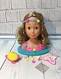Кукла манекен голова Yale Bella для причесок и макияжа с обручем, аксессуарами и косметикой детская светится, фото 2