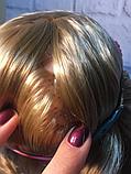 Кукла манекен голова Yale Bella для причесок и макияжа с обручем, аксессуарами и косметикой детская светится, фото 4
