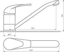 Змішувач для кухні EcoMix E-GEZ-203, фото 3