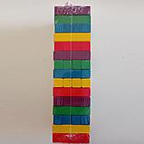 Дитяча настільна розвиваюча гра FUN GAME Дженга кольорова Вежа, сімейна гра башта + кубик, фото 3