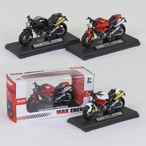 Іграшка Мотоцикл металопластик HX 812 , Спортбайк колекционная фігурка на підставці