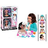 Ігровий набір лялька-манекен голова для зачісок hair Salon fashion girl 2 шт в коробці, фото 3