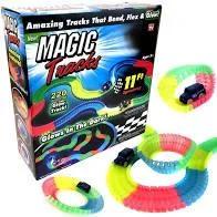 Гнущийся и светящийся гоночный трек Magic Tracks 220 деталей