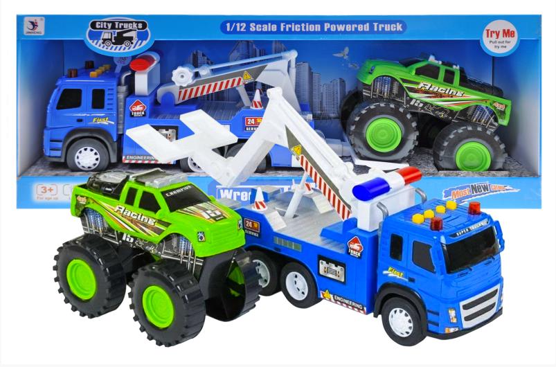 Детская игрушка игровая машина эвакуатор погрузчик для детей,  детские машинки спецтехника 1188-35
