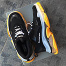 Женские кроссовки Balenciaga Triple S Clear sole yellow/black, фото 7