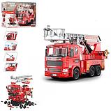 Конструктор KB 024 Limo Toy Пожежна машина на шурупах 1:22 звук і світло 105 деталей на батарейках, фото 2