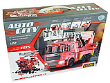 Конструктор KB 024 Limo Toy Пожежна машина на шурупах 1:22 звук і світло 105 деталей на батарейках, фото 5