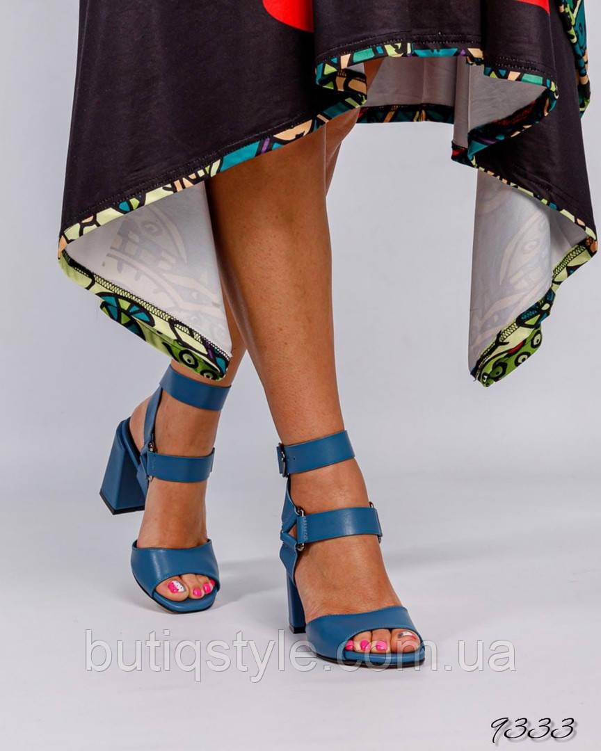 Женские босоножки navi натуральная кожа на каблуке