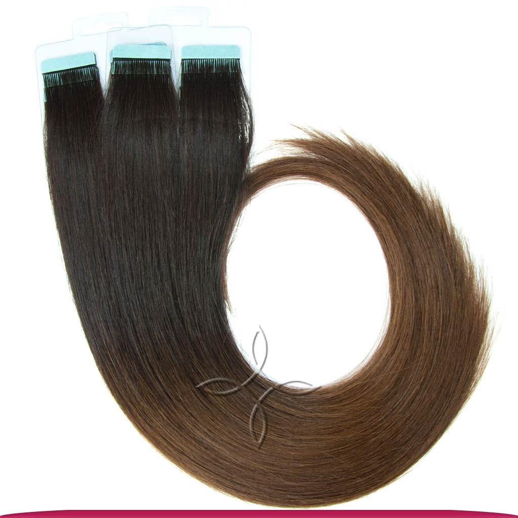 Натуральные Славянские Волосы на Лентах 60 см 100 грамм, Омбре №02-04