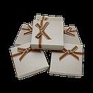 Коробочка подарочная для украшений 9/9/2,5 см 24 шт./упак., фото 4