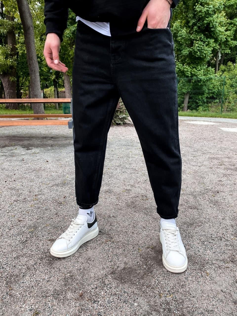 😝 Джинси - широкі Чоловічі Джинси / чоловічі джинси чорні з якісного котону