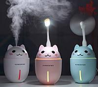 Увлажнитель Воздуха и Ночник BabySmile Kitty Kids Котик от USB, фото 1