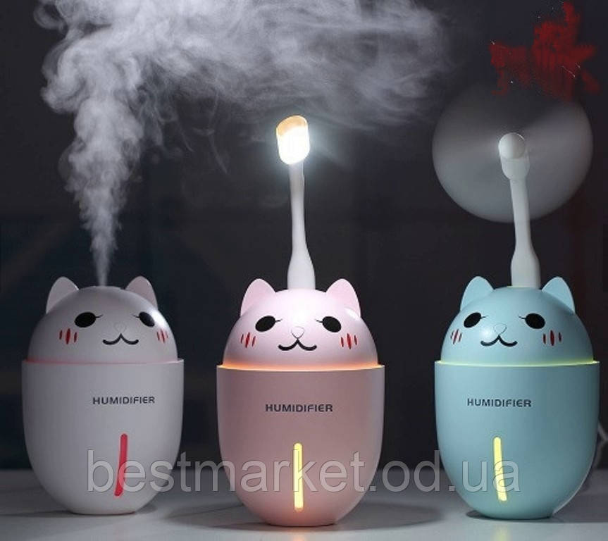 Зволожувач Повітря і Нічник BabySmile Kitty Kids Котик від USB