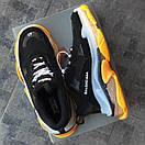 Мужские кроссовки Balenciaga Triple S Clear sole yellow/black, фото 7