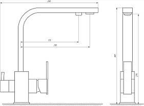 Змішувач для кухні під осмос Globus Lux GLLR-0111, фото 3