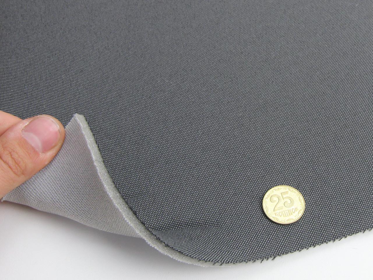 Авто ткань оригинальная сидений (темно-серый), основа поролон и сетка, толщина 4мм, ширина 180см
