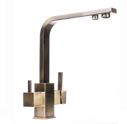 Смеситель для кухни под осмос Globus Lux GLLR-0111-9-BRONZE, фото 2