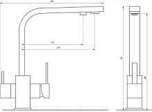 Смеситель для кухни под осмос Globus Lux GLLR-0111-9-BRONZE, фото 3