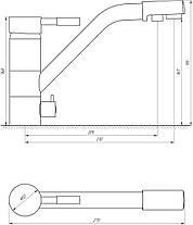 Смеситель для кухни под осмос Globus Lux GLLR-0555, фото 2