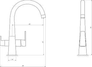Смеситель для кухни под осмос Globus Lux GLLR-0999, фото 2