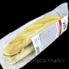 """Сендвич «Гамбург» TM """"City Food"""" с кетчупом, майонезным соусом и ветчиной 240г"""