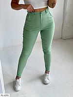 Приталені стильні жіночі штани джинси жіночі легкі стрейч з джинс-бенгалина р-ри 42,44,46,48 арт 601