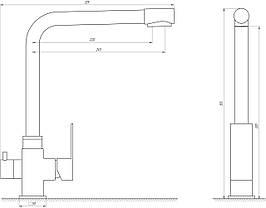 Змішувач для кухні під осмос MixMIRA MS-0110-BB, фото 3