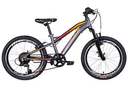 """Велосипед 20"""" Formula BLACKWOOD 2021 (антрацитово-оранжевый с фиолетовым (м))"""
