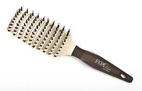 Щетка для укладки лопата FОX CARE nylon & boar арт 1509340