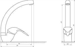 Змішувач для умивальника EcoMix GEZ-WHITE-101S, фото 3