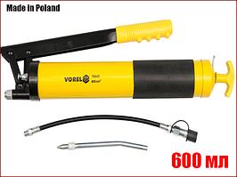 Ручной шприц для смазки с двумя насадками 600 мл Vorel 78043