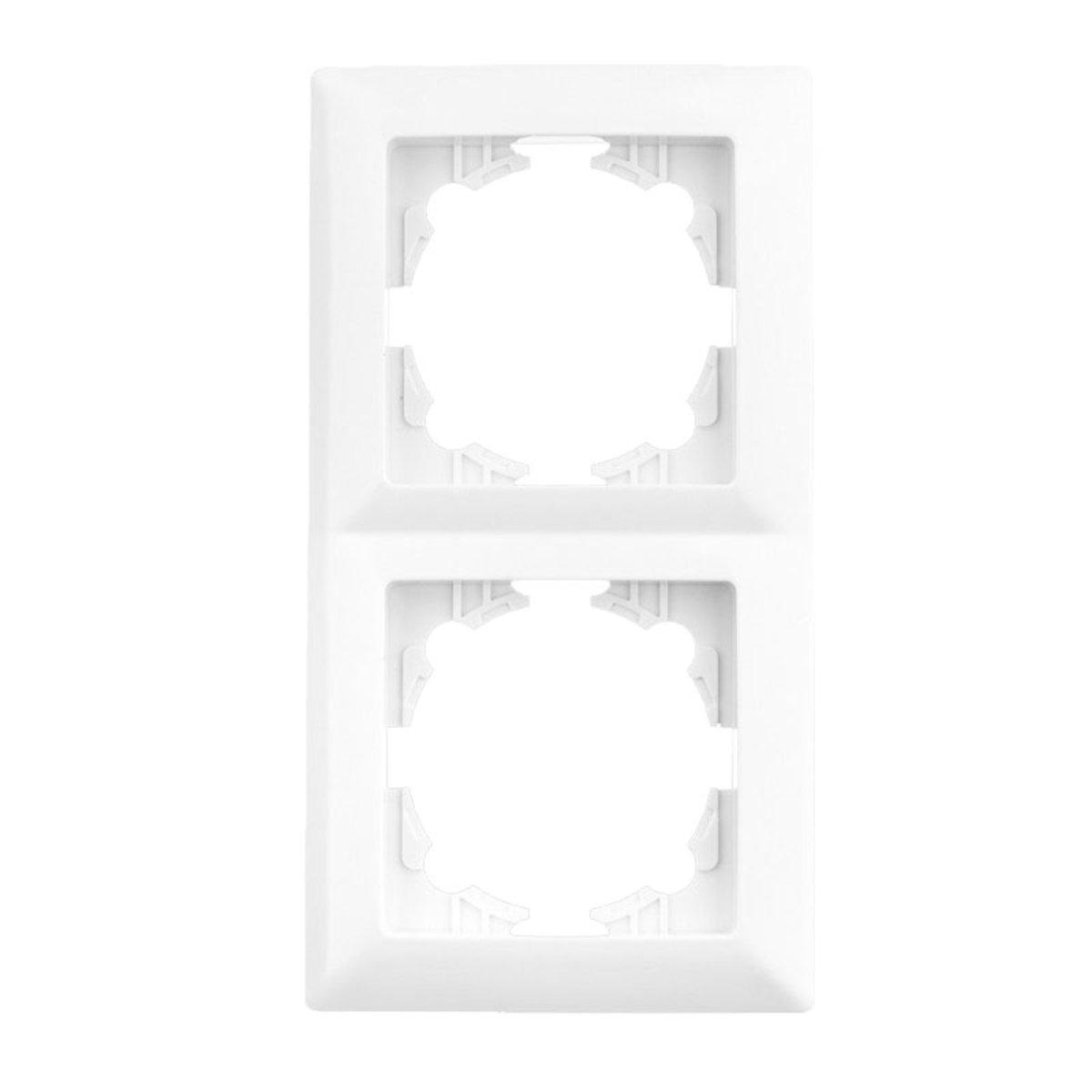 Подвійна рамка Lectris Біла LCI025