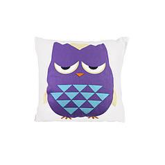 Дитяча бавовняна подушка Lesko AJ0030 Совушка Green + Purple 30*30см в ліжечко