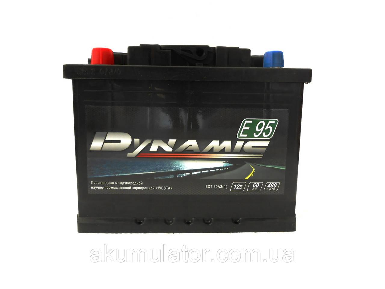 Аккумулятор автомобильный   DYNAMIC  60-0 (R+)  (480А)