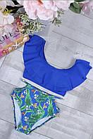 Синий раздельный купальник детский купальник