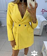 Стильный удлиненный приталенный пиджак 1501 НК