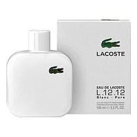 Мужская туалетная вода Lacoste Eau De L.12.12 Blanc парфюм, мужские белые духи Лакоста Бланк