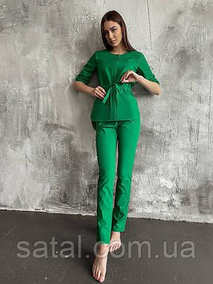 """Медицинский костюм """"ЛУна"""". Трава (зеленый). Легкая ткань. Рукав по локоть. Satal, фото 2"""