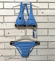 Синий детский купальник для девочки
