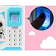 Детская копилка - сейф с кодовым замком и отпечатком пальца ГОЛУБАЯ арт. 4626, фото 7