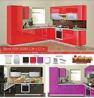 Кухня угловая HIGH GLOSS 2,3х2,7