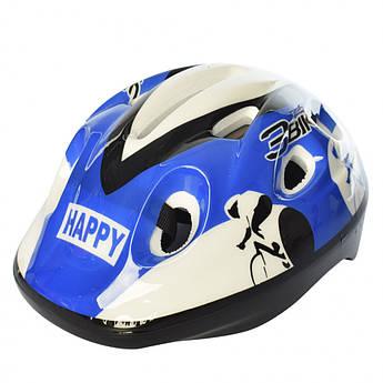 Детский шлем MS 1955 для катания на велосипеде (Сине-белый)