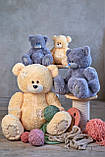 Мягкие игрушки мишка Тедди 90 см цвет персик   Плюшевые медведи   Плюшевый мишка от производителя, фото 6
