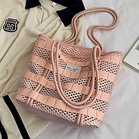Женская сумка сетка, сумка персикового цвета, летняя сумка 2021  CC-3725-30